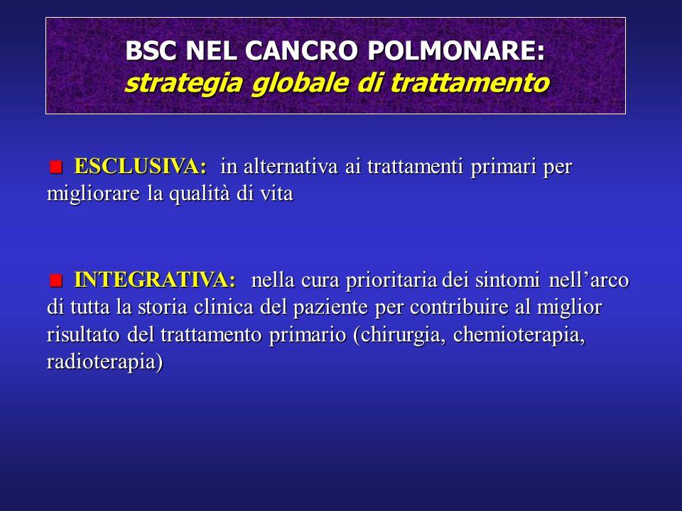 BSC NEL CANCRO POLMONARE: strategia globale di trattamento