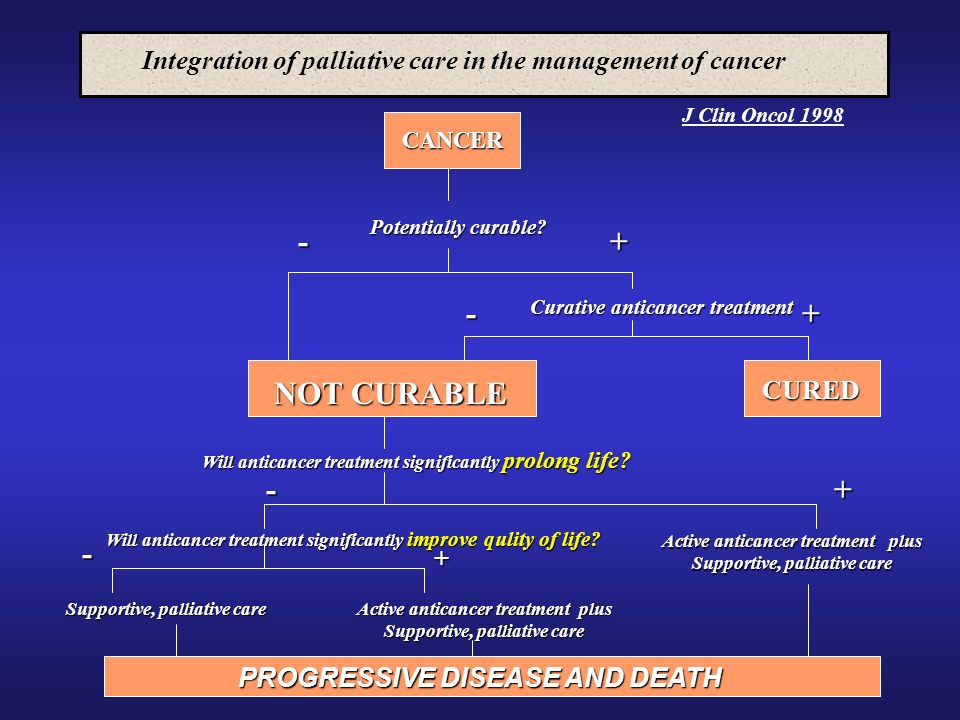 Integration of palliative care in the management of cancer