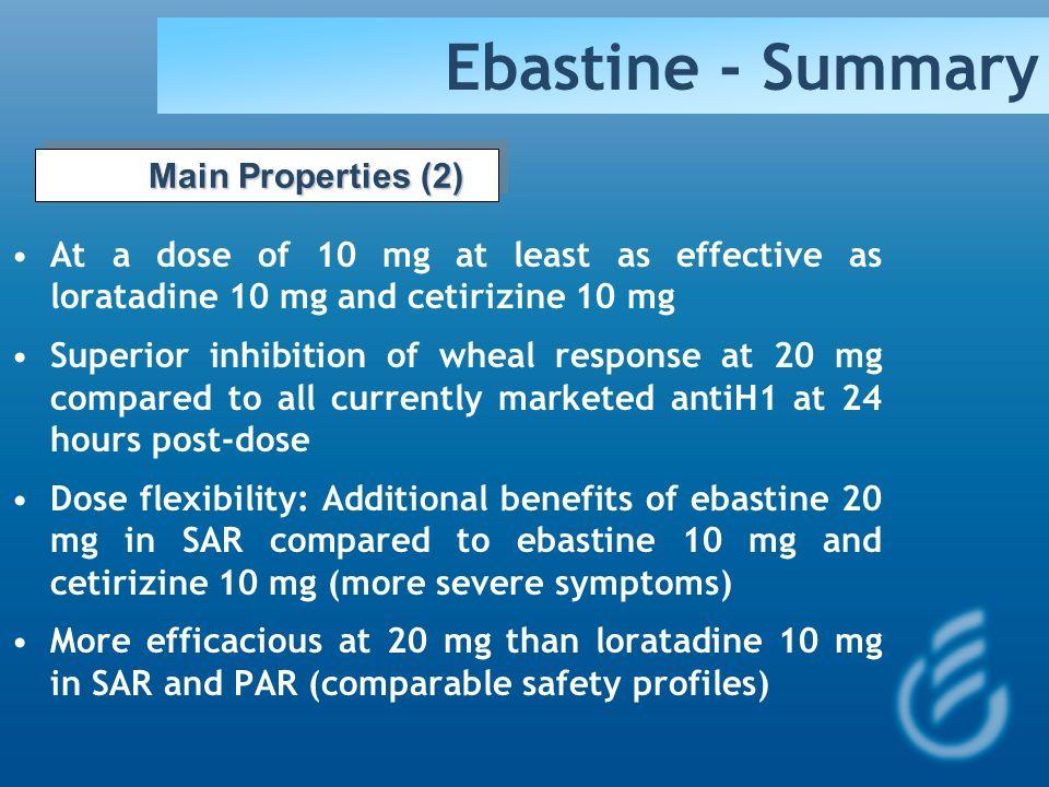 Ebastine - Summary Main Properties (2)