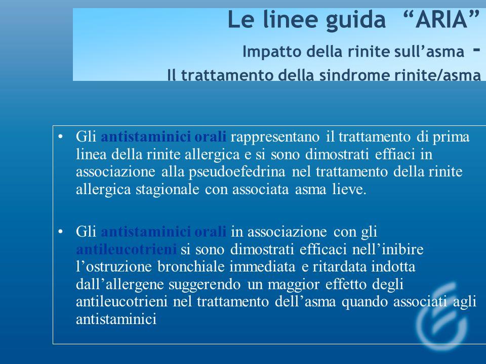 Le linee guida ARIA Impatto della rinite sull'asma - Il trattamento della sindrome rinite/asma