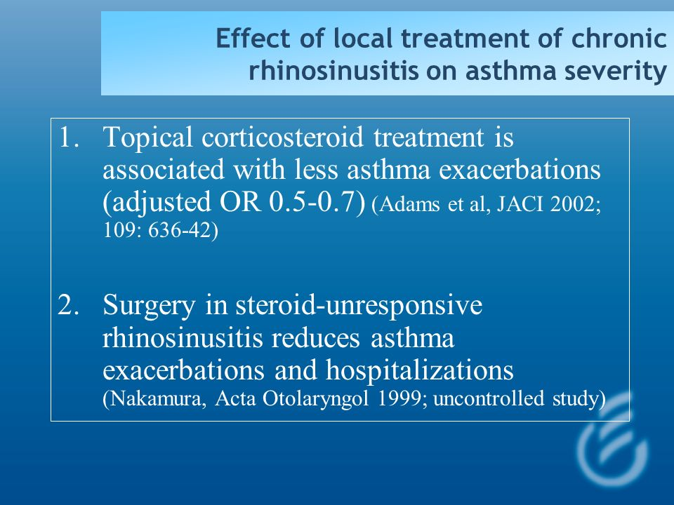 Effect of local treatment of chronic rhinosinusitis on asthma severity