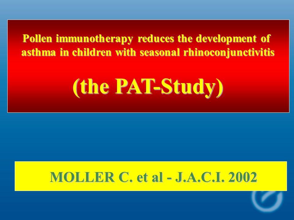 (the PAT-Study) MOLLER C. et al - J.A.C.I. 2002