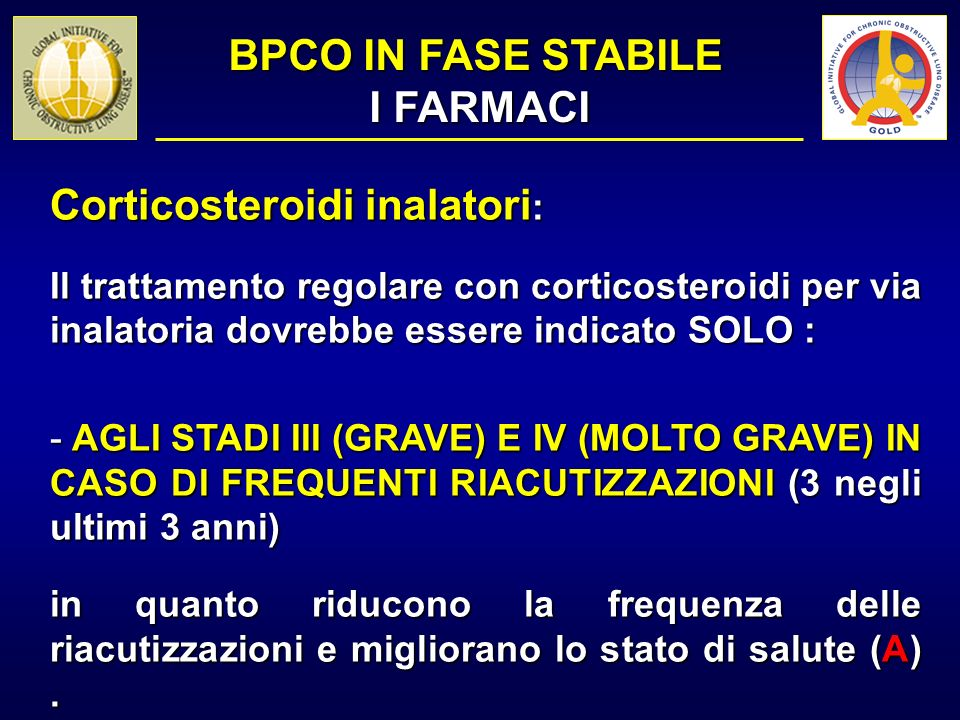BPCO IN FASE STABILE I FARMACI