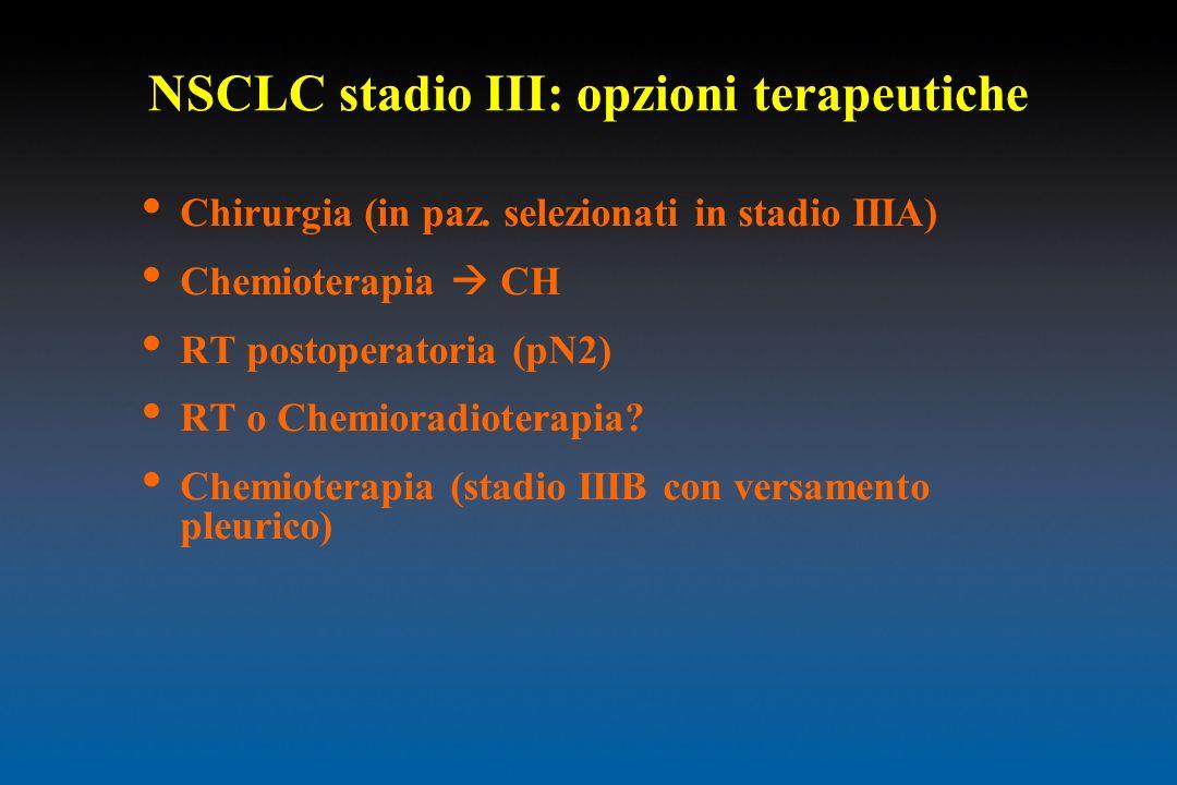 NSCLC stadio III: opzioni terapeutiche