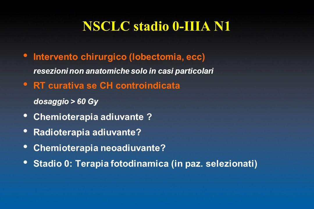 NSCLC stadio 0-IIIA N1 Intervento chirurgico (lobectomia, ecc)
