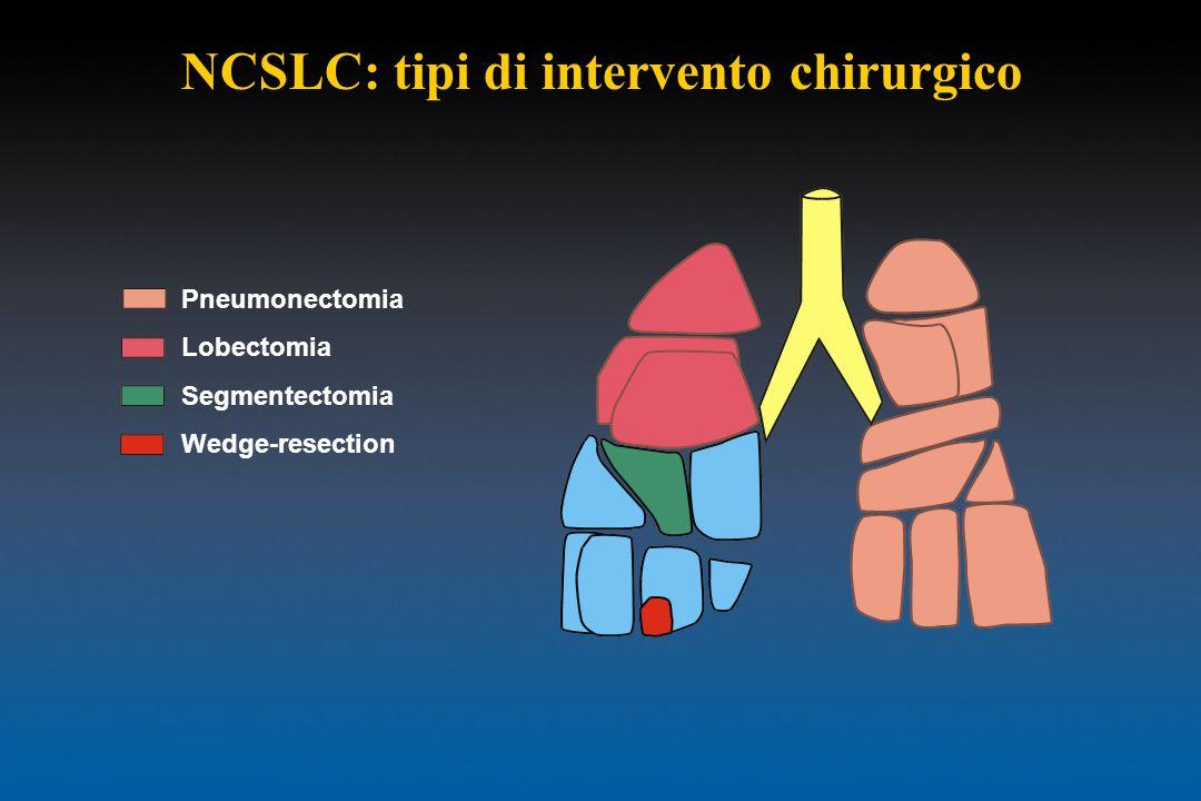 NCSLC: tipi di intervento chirurgico