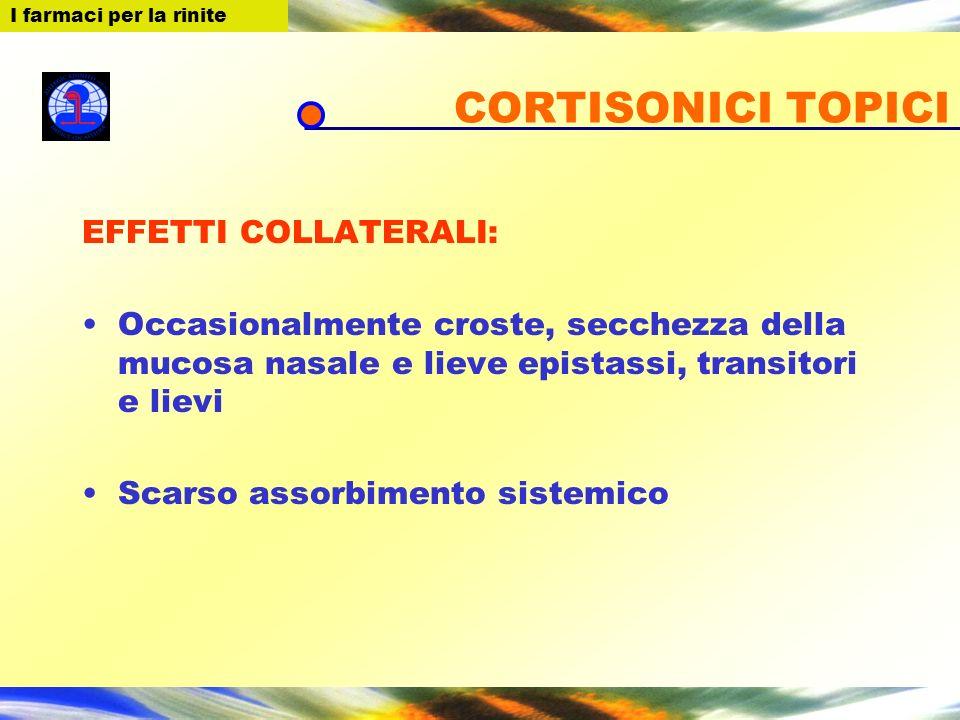 CORTISONICI TOPICI EFFETTI COLLATERALI: