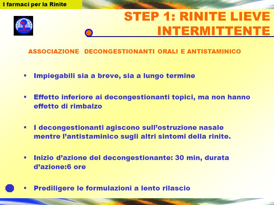 STEP 1: RINITE LIEVE INTERMITTENTE