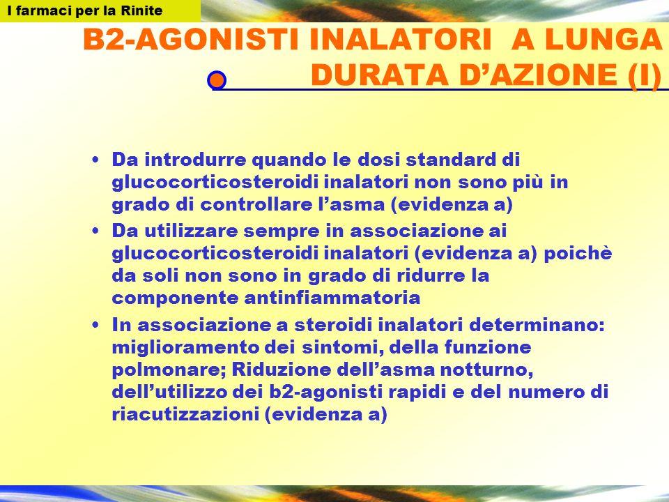 B2-AGONISTI INALATORI A LUNGA DURATA D'AZIONE (I)