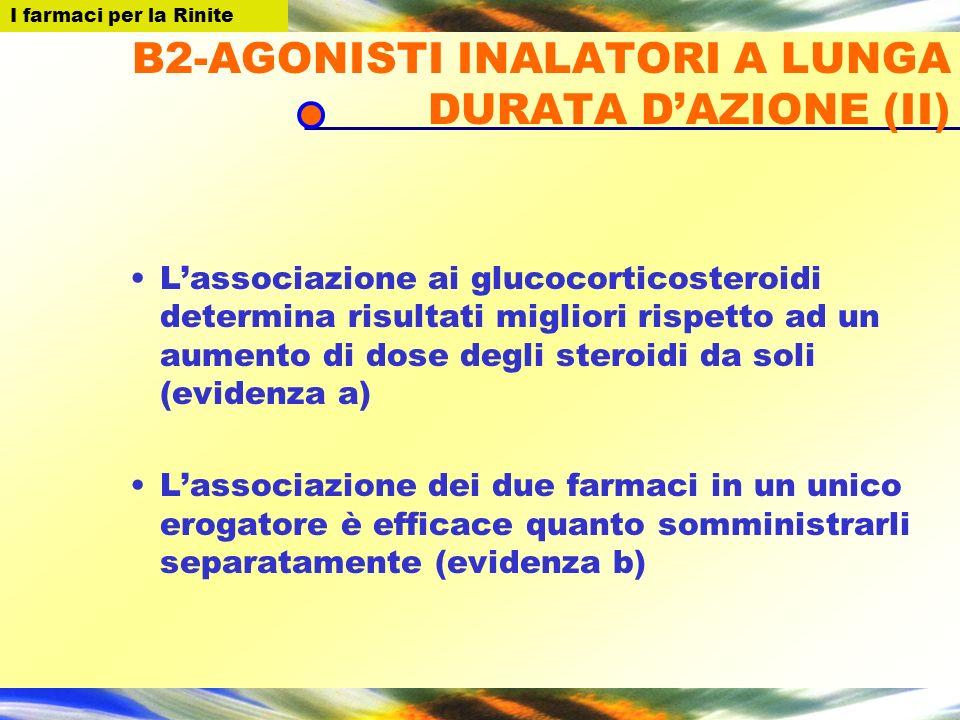 B2-AGONISTI INALATORI A LUNGA DURATA D'AZIONE (II)