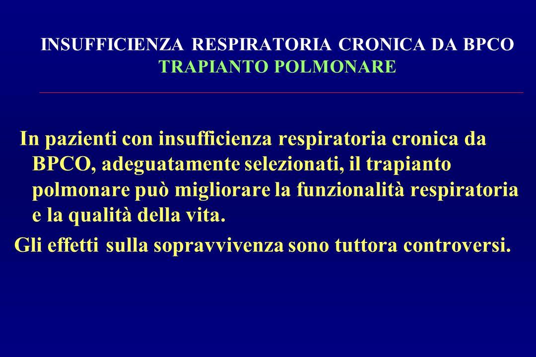 INSUFFICIENZA RESPIRATORIA CRONICA DA BPCO TRAPIANTO POLMONARE