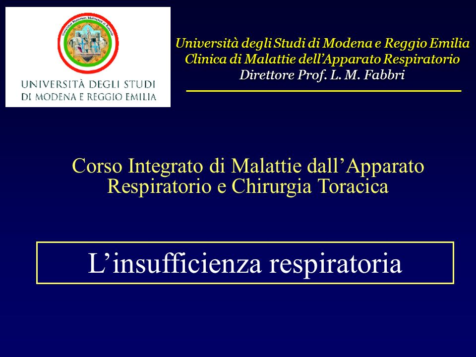 L'insufficienza respiratoria