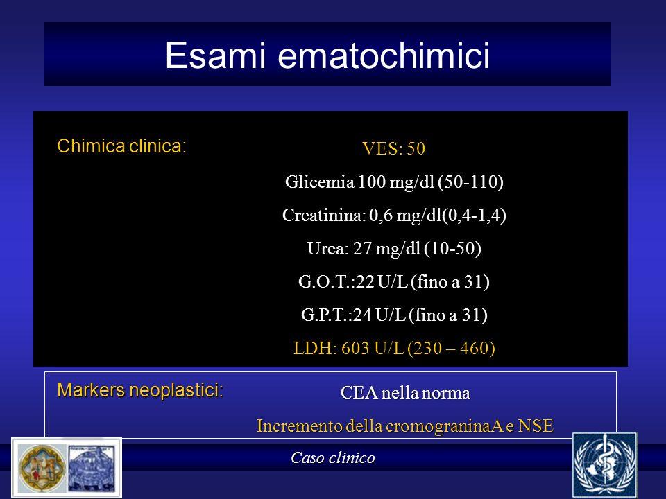Incremento della cromograninaA e NSE