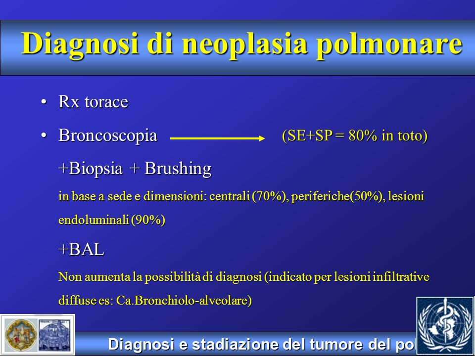 Diagnosi di neoplasia polmonare