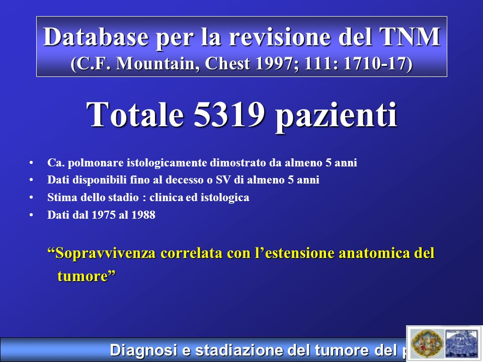 Database per la revisione del TNM (C. F