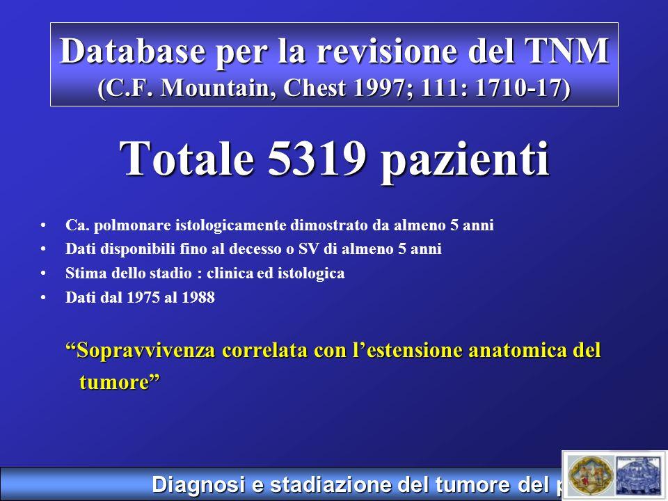 Database per la revisione del TNM (C. F