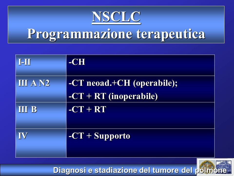 NSCLC Programmazione terapeutica
