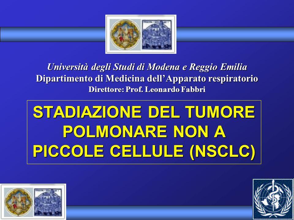 STADIAZIONE DEL TUMORE POLMONARE NON A PICCOLE CELLULE (NSCLC)