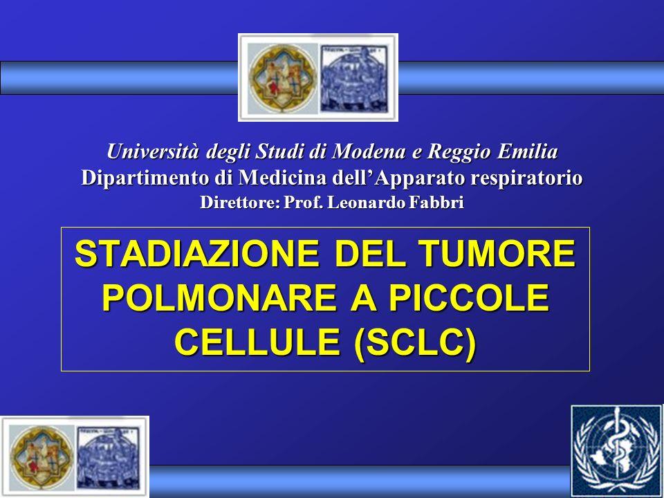 STADIAZIONE DEL TUMORE POLMONARE A PICCOLE CELLULE (SCLC)