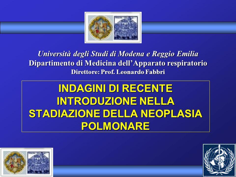 Università degli Studi di Modena e Reggio Emilia Dipartimento di Medicina dell'Apparato respiratorio Direttore: Prof. Leonardo Fabbri