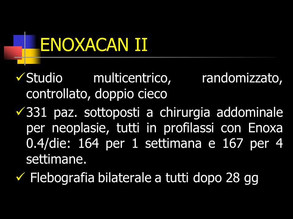 ENOXACAN II Studio multicentrico, randomizzato, controllato, doppio cieco.