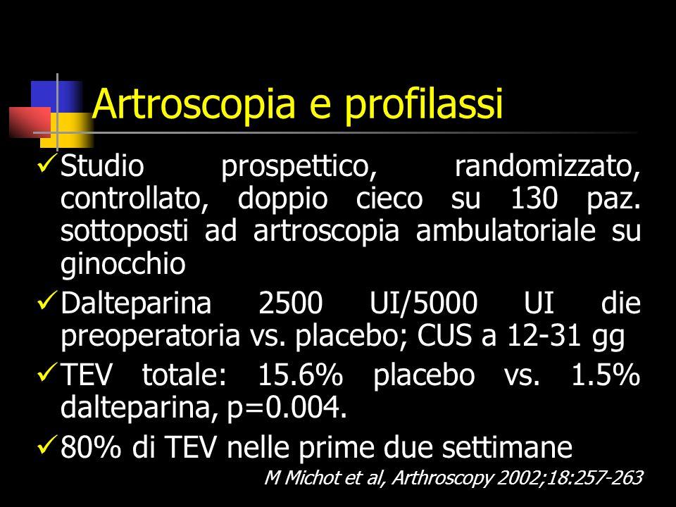 Artroscopia e profilassi
