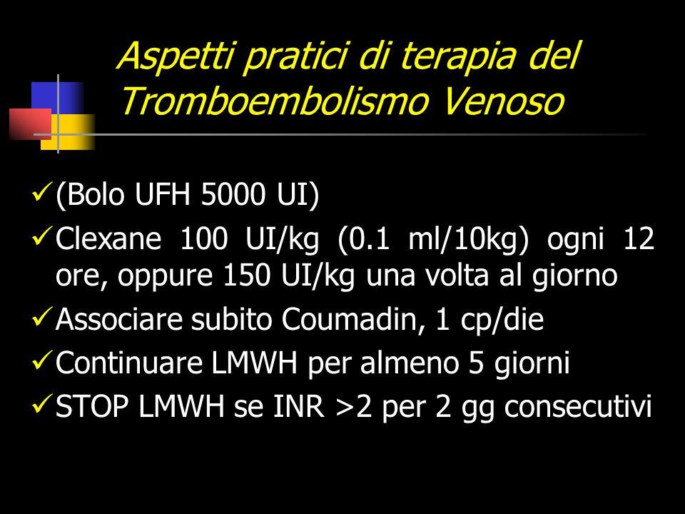 Aspetti pratici di terapia del Tromboembolismo Venoso
