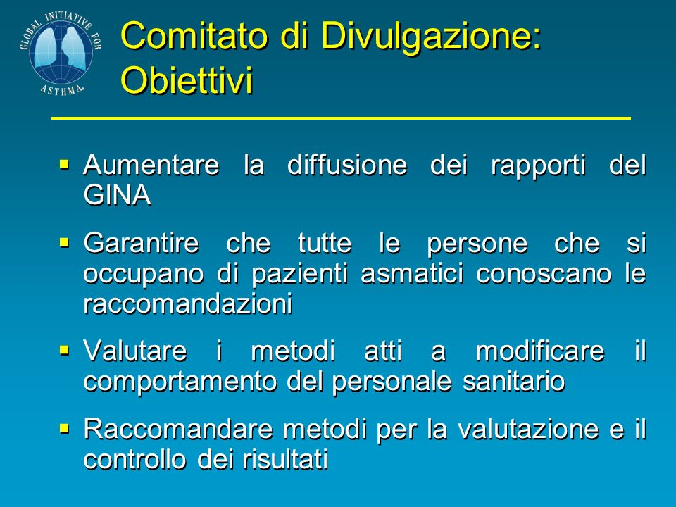Comitato di Divulgazione: Obiettivi