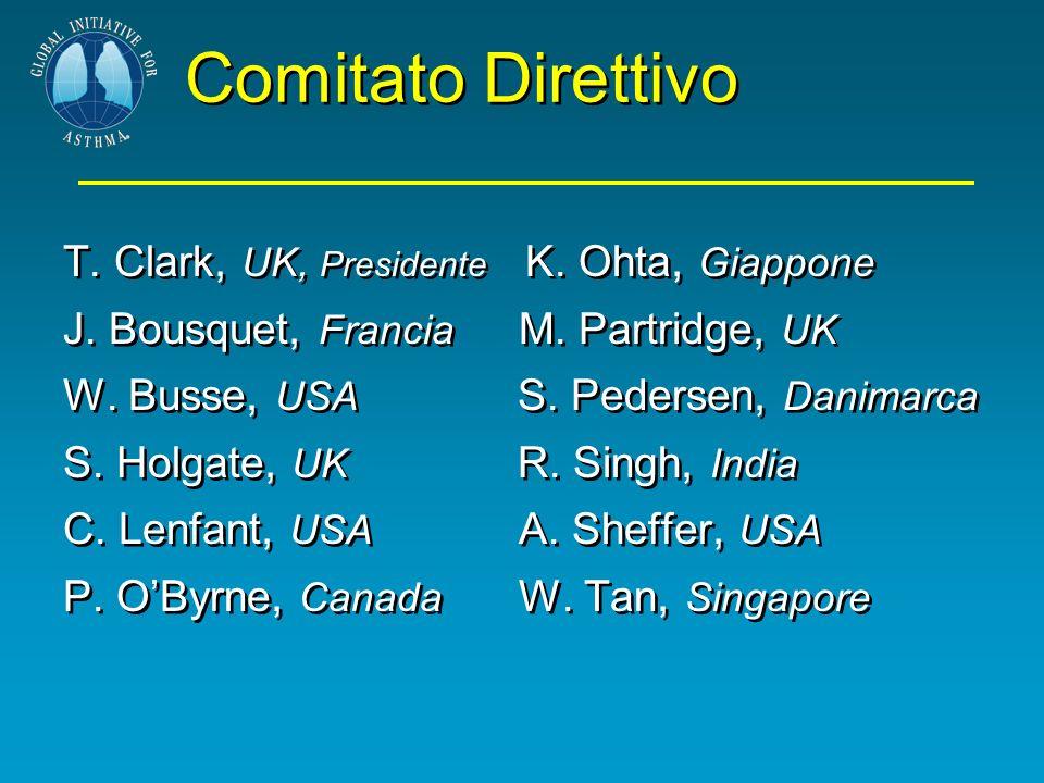 Comitato Direttivo T. Clark, UK, Presidente K. Ohta, Giappone