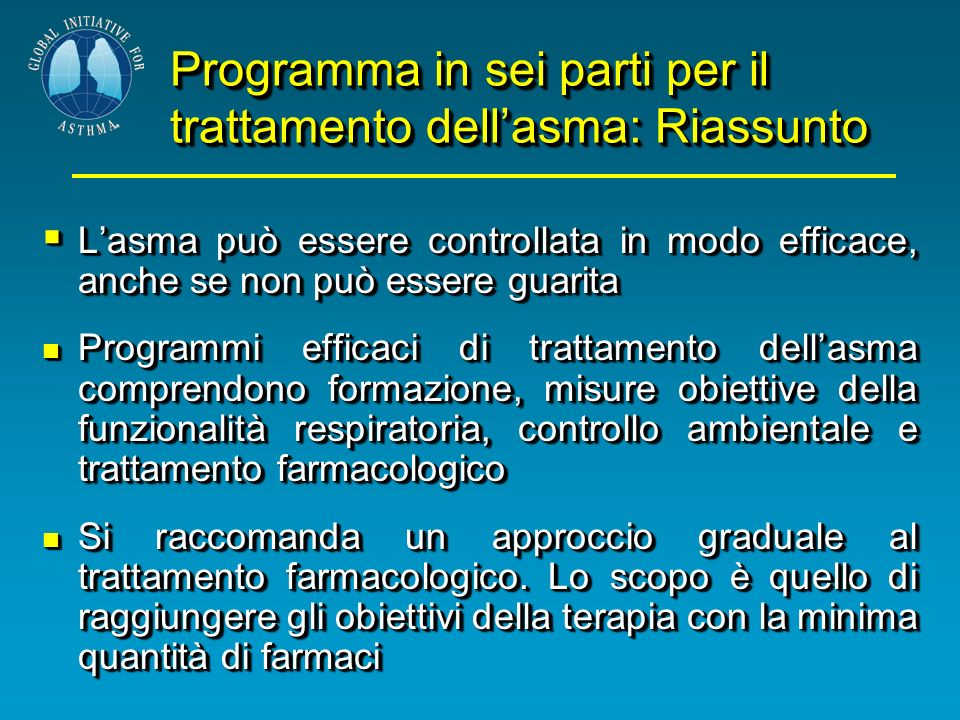 Programma in sei parti per il trattamento dell'asma: Riassunto