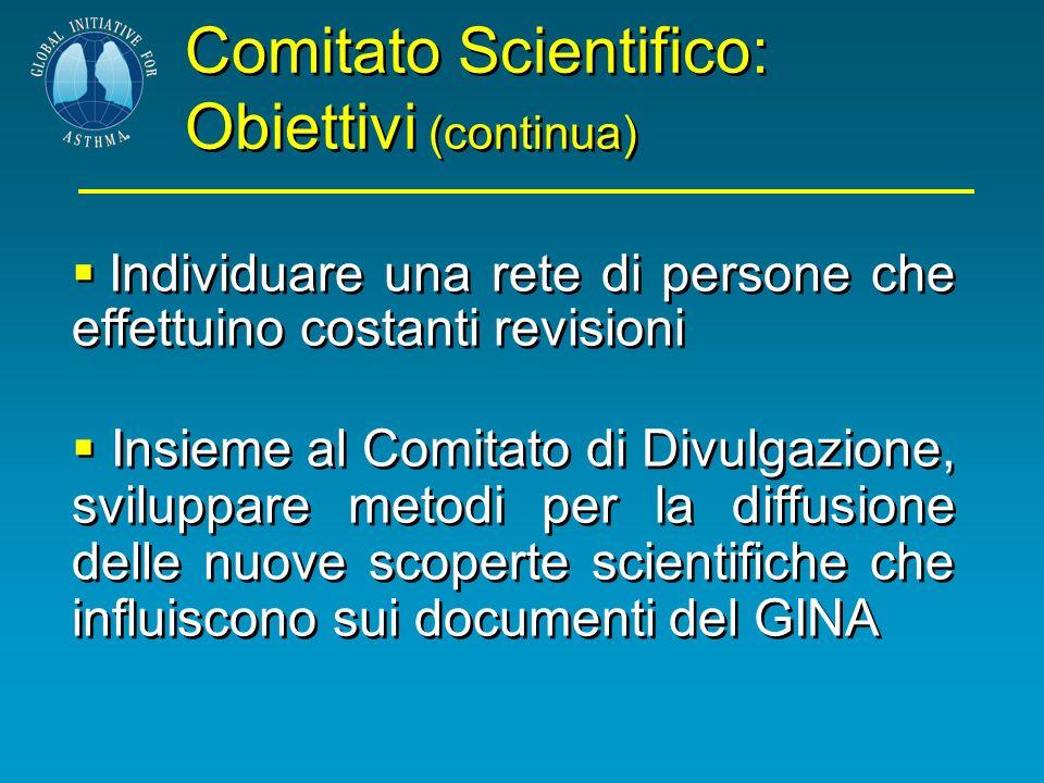 Comitato Scientifico: Obiettivi (continua)