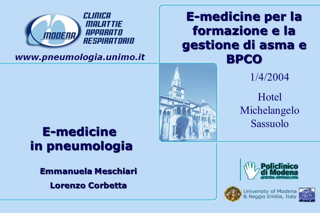 E-medicine per la formazione e la gestione di asma e BPCO