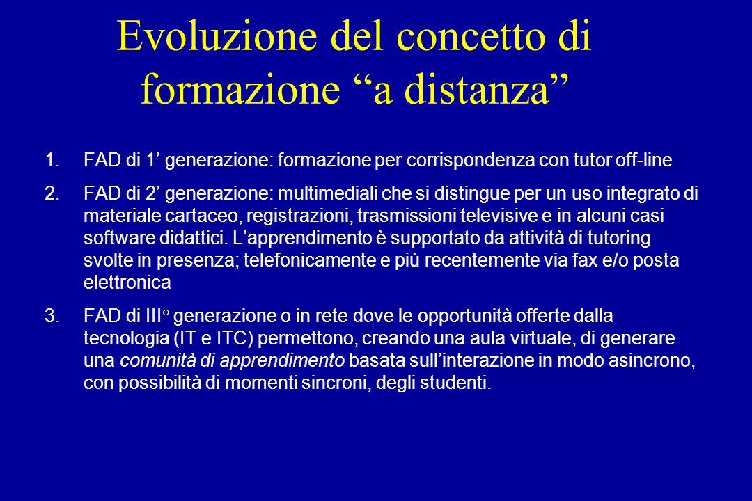 Evoluzione del concetto di formazione a distanza
