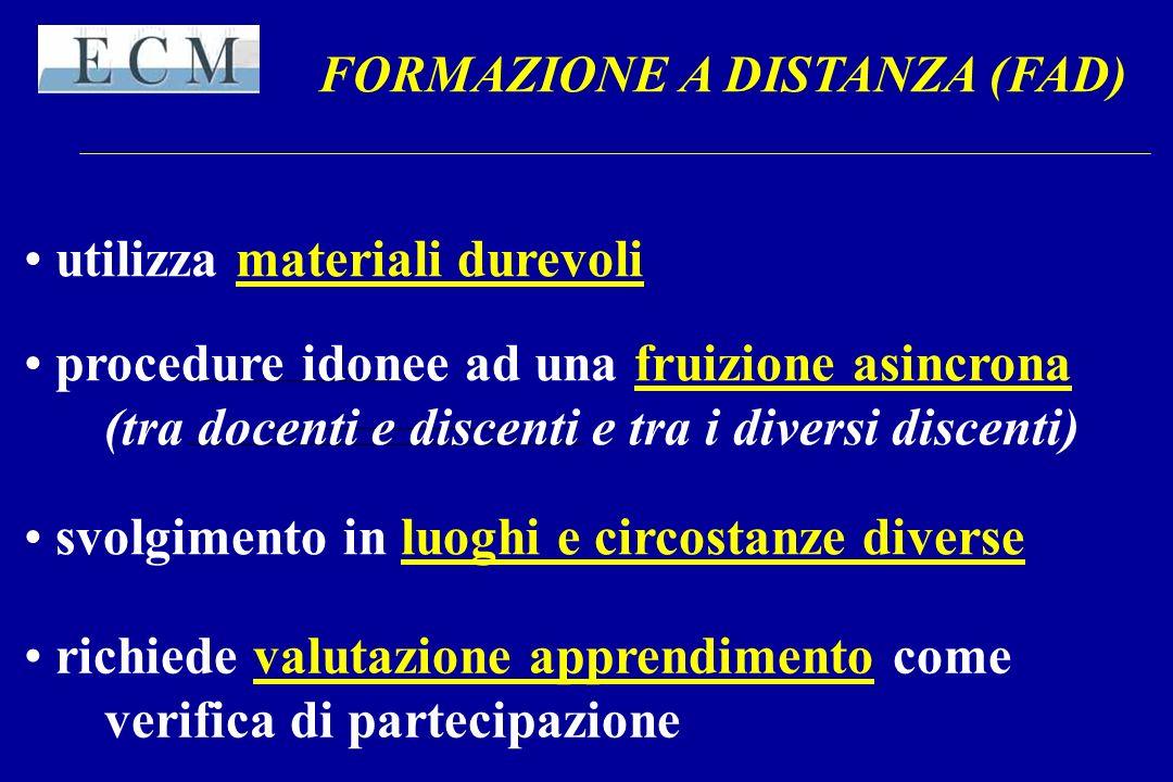 FORMAZIONE A DISTANZA (FAD)