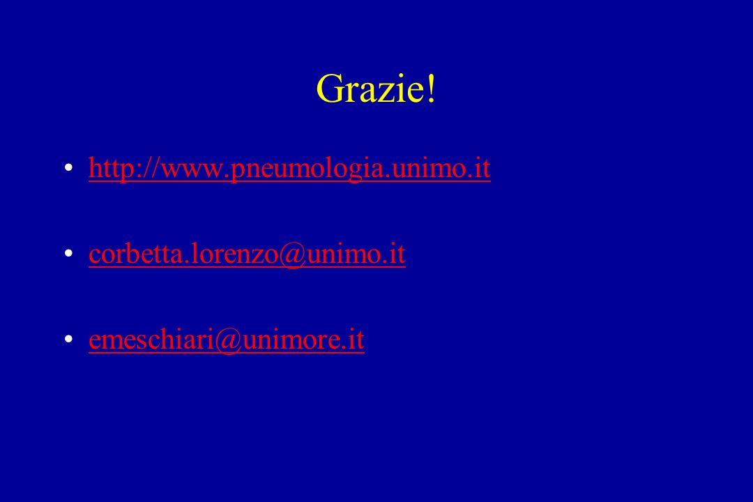 Grazie! http://www.pneumologia.unimo.it corbetta.lorenzo@unimo.it