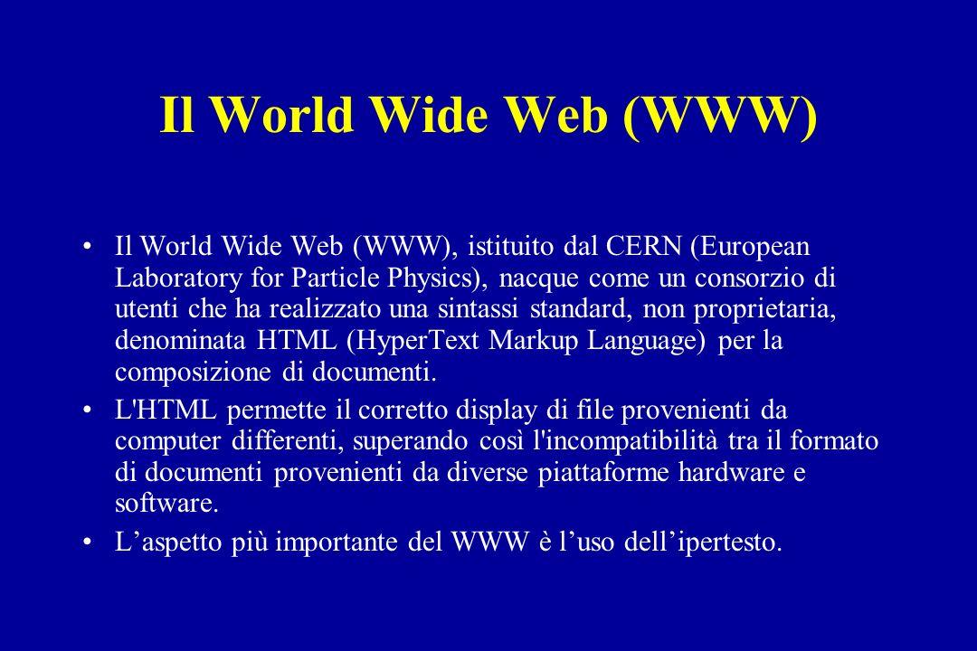 Il World Wide Web (WWW)