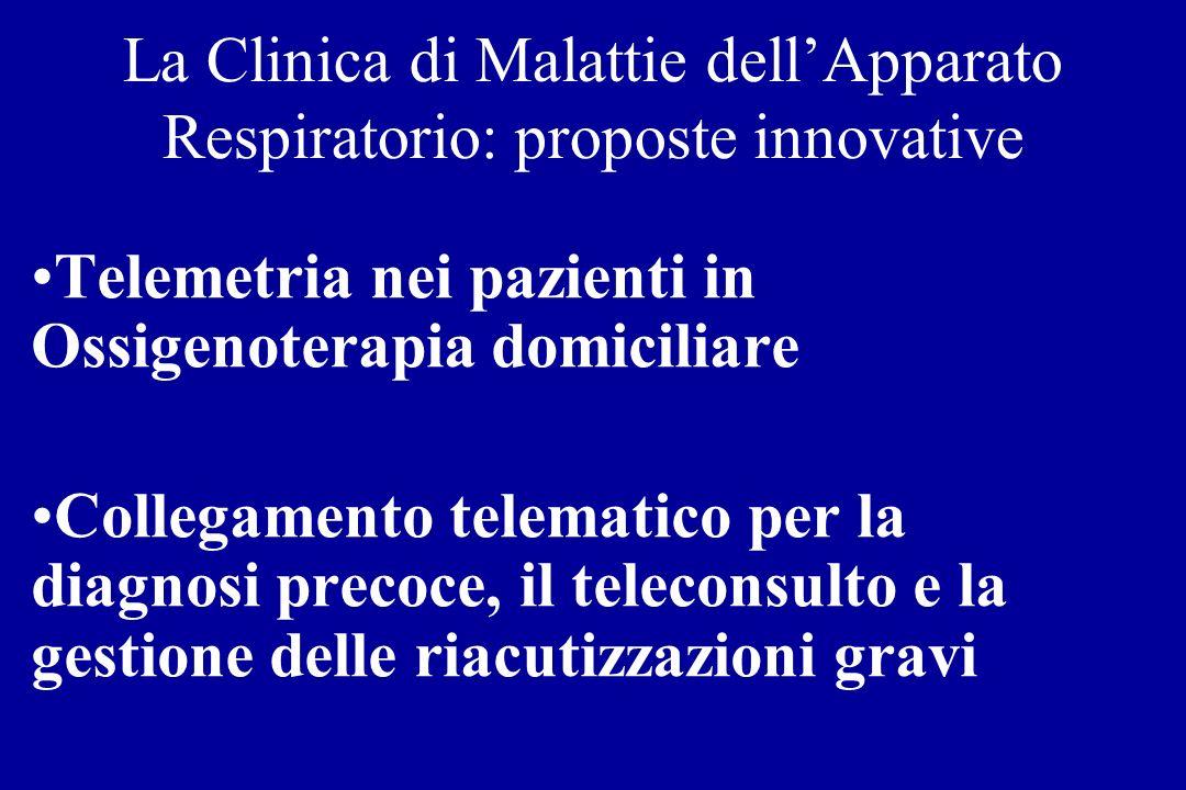 La Clinica di Malattie dell'Apparato Respiratorio: proposte innovative