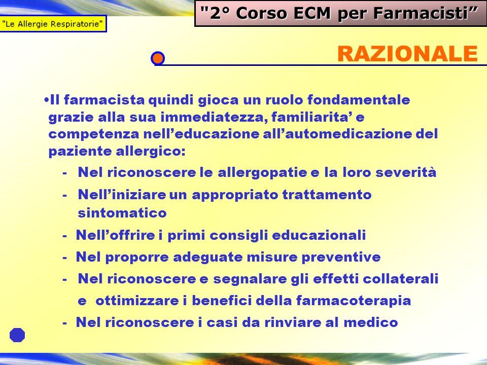 RAZIONALE 2° Corso ECM per Farmacisti