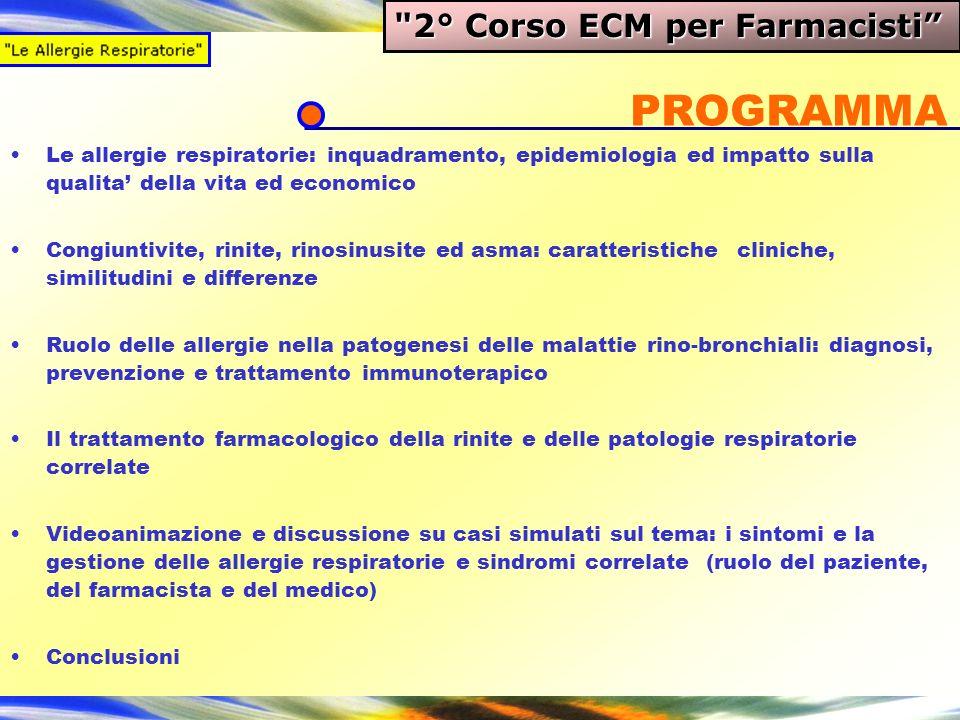 PROGRAMMA 2° Corso ECM per Farmacisti