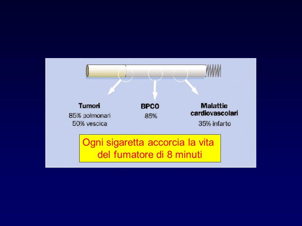Ogni sigaretta accorcia la vita