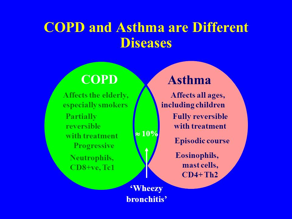 COPD and Asthma are Different Diseases