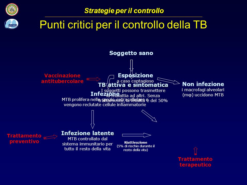 Punti critici per il controllo della TB
