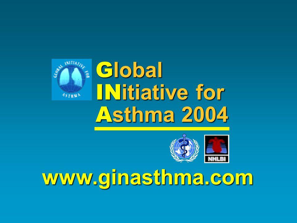 Global INitiative for Asthma 2004 www.ginasthma.com