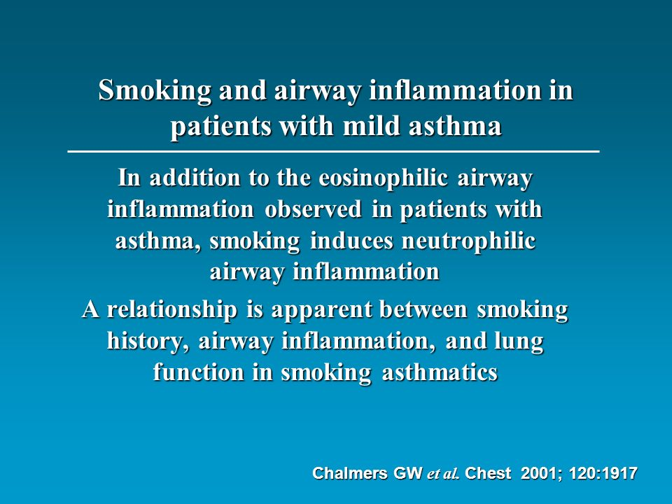 Smoking and airway inflammation in patients with mild asthma