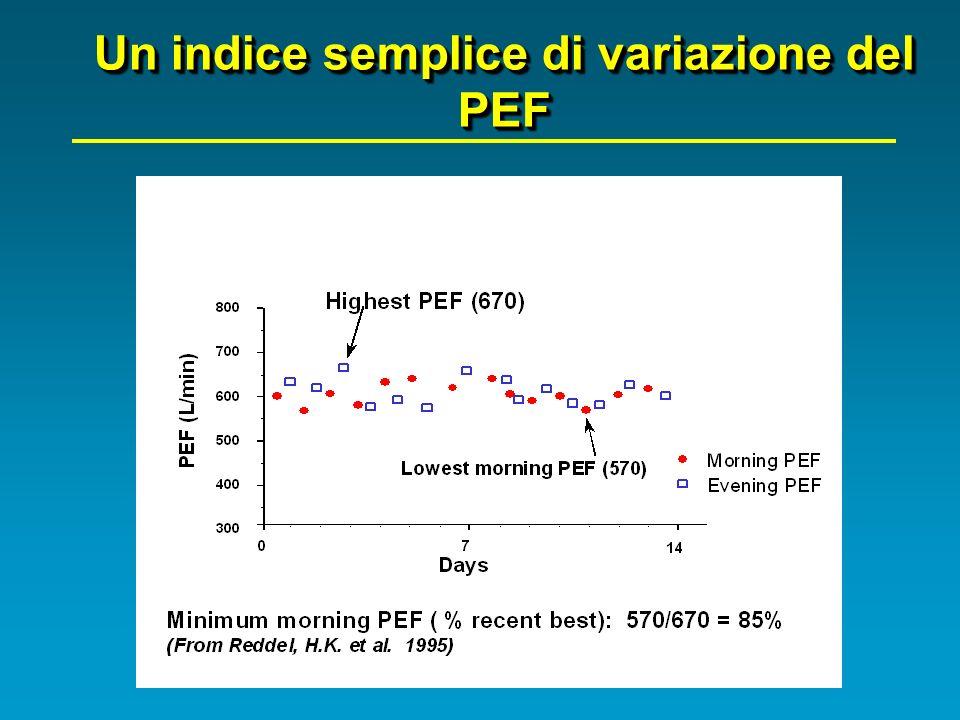 Un indice semplice di variazione del PEF