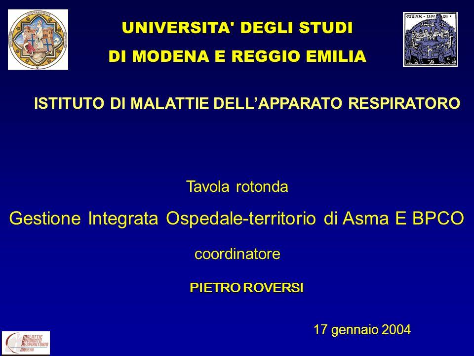 ISTITUTO DI MALATTIE DELL'APPARATO RESPIRATORO