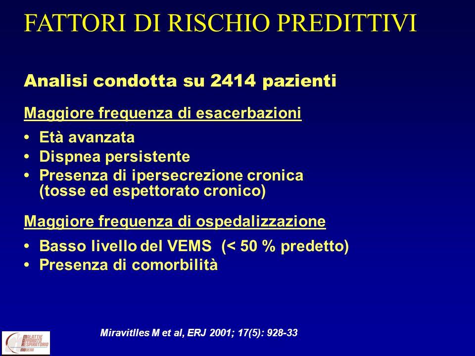 FATTORI DI RISCHIO PREDITTIVI