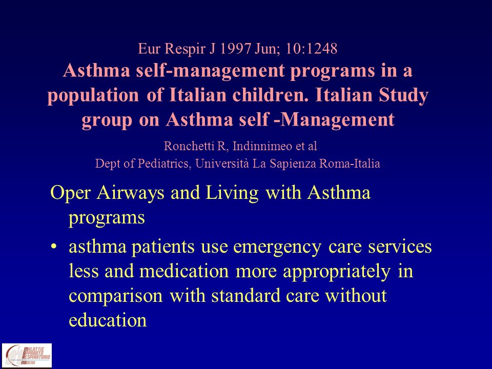 Oper Airways and Living with Asthma programs