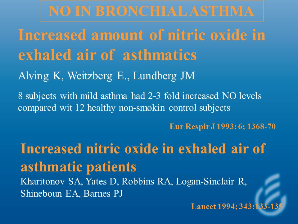 Increased amount of nitric oxide in exhaled air of asthmatics