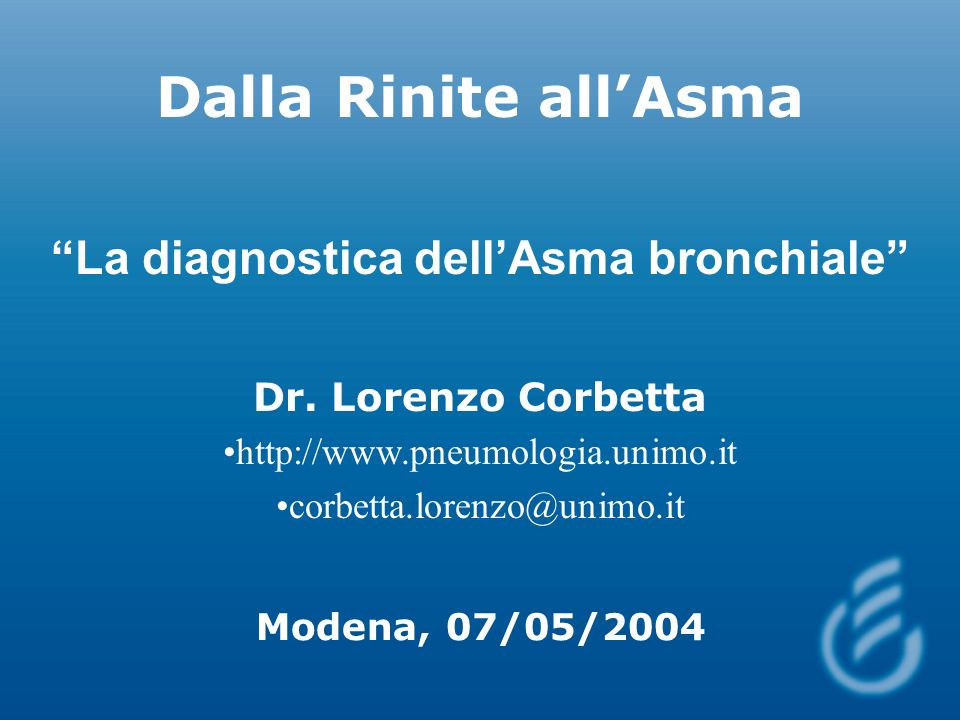 La diagnostica dell'Asma bronchiale